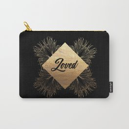 Loved in Black and Gold Carry-All Pouch