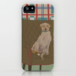 Dog in a chair #5 Golden Lab iPhone Case