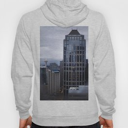 Seattle Skyline and Space Needle on a Cloudy Day Hoody