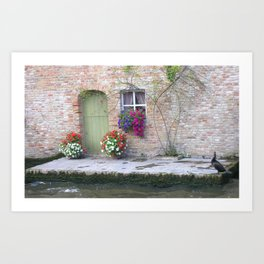 House Over a Canal Art Print