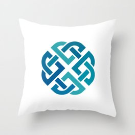 St. Patrick's Day Celtic Blue Knot #2 Throw Pillow