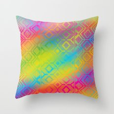 inca rainbow Throw Pillow