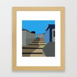 A Walk To The Beach Framed Art Print