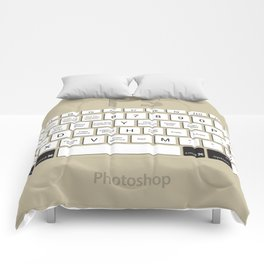 Photoshop Keyboard Shortcuts Brwn Opt+Cmd Comforters