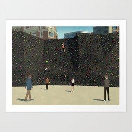 Wall Climbing Art Print