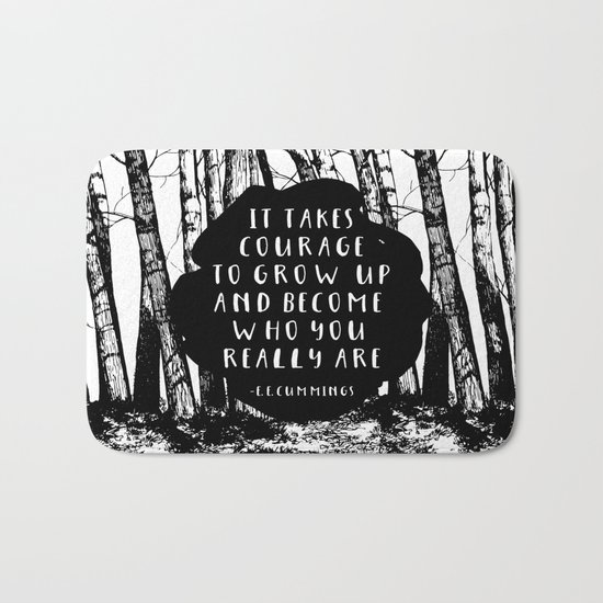 Courage (Designed for The YA Chronicles) Bath Mat