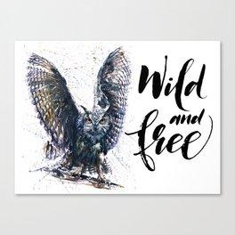 Owl wild & free Canvas Print