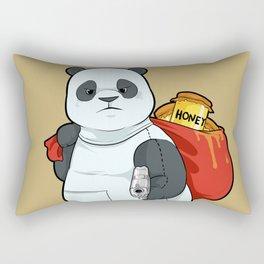 Bear in Disguise   Panda Bears, Guns & Honey Rectangular Pillow