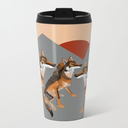 Wolves of the World: Iberian wolf (GREFA) Metal Travel Mug