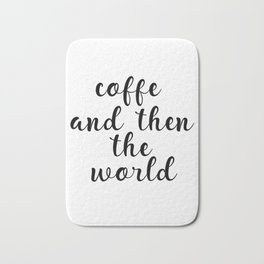 Coffee Bar Decor, Coffee Sign, Kitchen Decor, Kitchen Wall Art Bath Mat