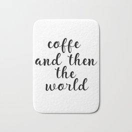 Coffee Bar Decor, Coffee Sign, Kitchen Decor, Kitchen Wall Art Bath Mat