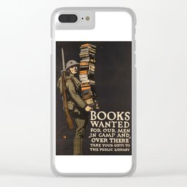 Books for Soldiers (Vintage Poster) Clear iPhone Case
