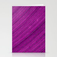 banana leaf Stationery Cards featuring purple banana leaf by blackpool