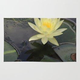 Yellow Water Flower Rug