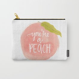 You're a Peach Watercolor Painting Carry-All Pouch