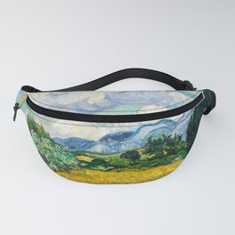 Vincent Van Gogh - Wheat Field with Cypresses Fanny Pack