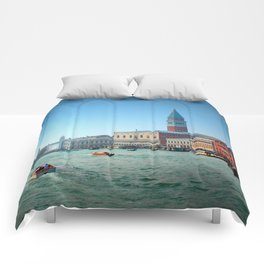 Approaching St Marks Square, Venice, Italy Comforters
