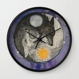 Skoll and Hati Wall Clock