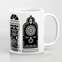 Moroccan Doors – Black Palette Coffee Mug