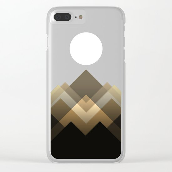 Path between hills Clear iPhone Case