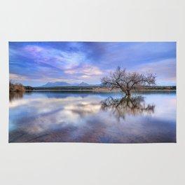 """""""Magic tree II"""" Magic reflections at the lake. Rug"""