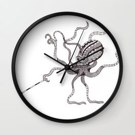 The Blind Octopus Wall Clock