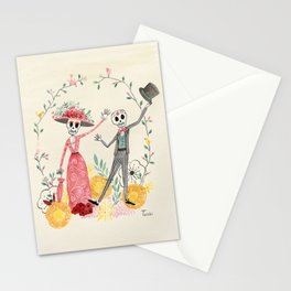 La Catrina y el Catrín Stationery Cards