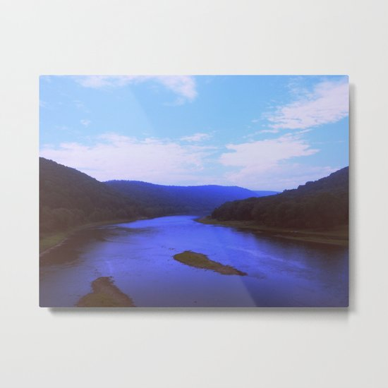 Cerulean Morning Metal Print