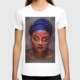 African American Portrait - The Color God Sees When He Closes His Eyes to Dream T-shirt