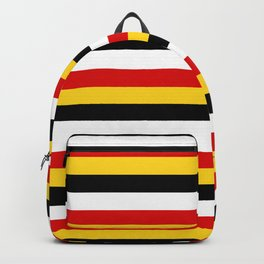 East Timor Papua New Guinea flag stripes Backpack