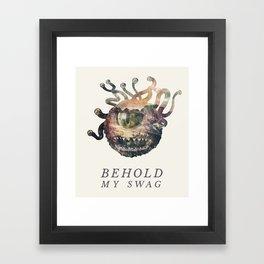Beholder (Typography) Framed Art Print