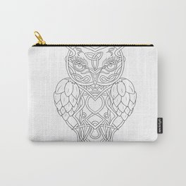 Hops and Barley Owl Celtic Knotwork Carry-All Pouch
