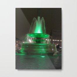Trafalgar Square Green Water fountains Metal Print