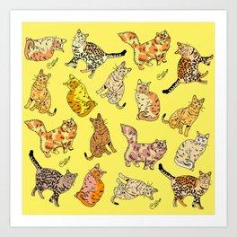 So many Cats and Kitties! Art Print