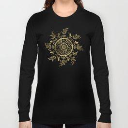 Leaf Mandala – Gold Palette Long Sleeve T-shirt