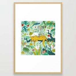 A leopard cannot change its spots Framed Art Print