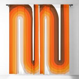 70's Geometric Design Print Blackout Curtain