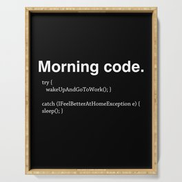 Morning Code Serving Tray