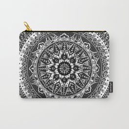Black and White Mandala Pattern Carry-All Pouch