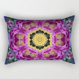 Floral finery - vivid kaleidoscope 20170321_135334 e k1 Rectangular Pillow