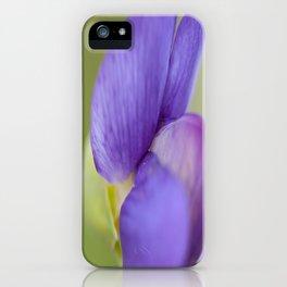 Taking Flight - Purple Lupin, New Zealand iPhone Case