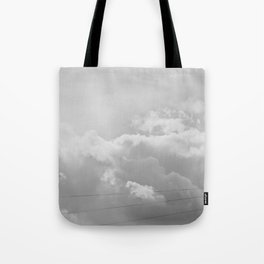 Heavenly in black and white Tote Bag