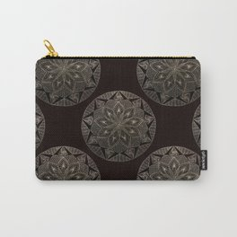 Maroon Mandala Pattern Carry-All Pouch