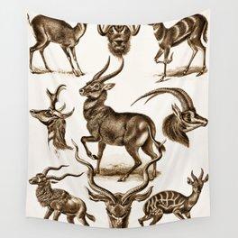 Ernst Haeckel Antilopina Antelope Wall Tapestry