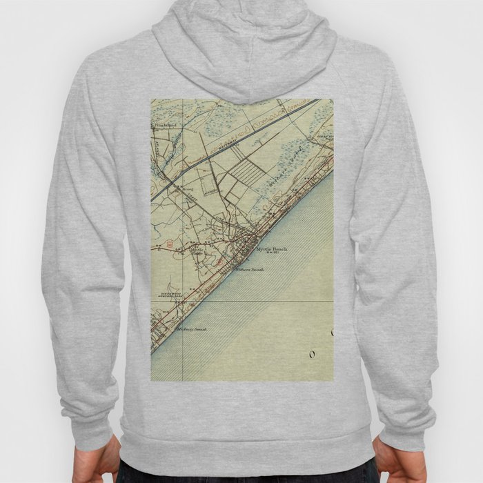 Vintage Map of Myrtle Beach South Carolina (1940) Hoody
