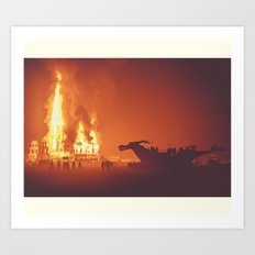 Dragon Burn Art Print