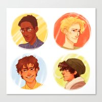 les mis Canvas Prints featuring Les Amis by batcii