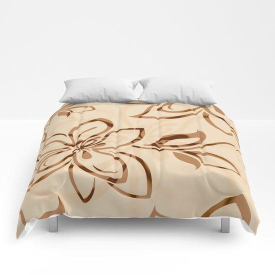 Brown Garden Comforters