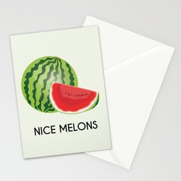 Nice melons Stationery Cards