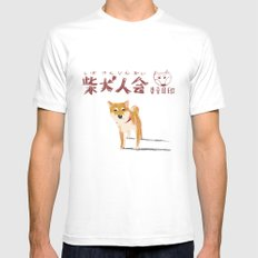 Shibakenjinkai White SMALL Mens Fitted Tee